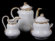 A Three Piece Tea Set, Old Paris Porcelain