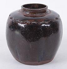 A Chinese Ming Dynasty Pottery Ginger Jar