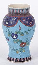 A Japanese Cloisonne on Pottery Vase, 19th Century