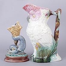 Two Pieces of 19th Century Majolica