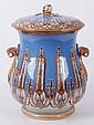 A Large Circa 1880 Covered Ceramic Jar by Furnival