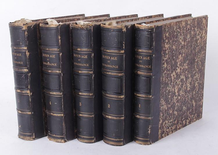 Rare Book: Le Moyen Age Renaissance, Five Volumes