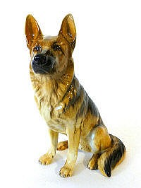 A Beswick fireside model of an Alsatian, No. 2410,