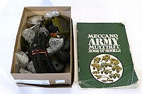 A group of Meccano army modelling parts and