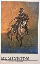 Cowboy lighting the range fire by Frederic Remington, 1891, Indian Hill Press Collection
