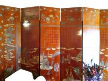 Chinese Eight-Panel Coromandel Screen, Mid-19th Century