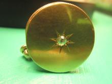 14K Yellow Gold and Diamond Locket, Circa 1900