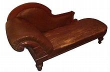 William IV Style Mahogany Chaise Lounge