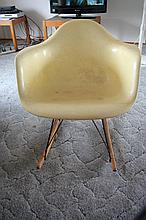 American Mid-Century Fiberglass Rocking Chair