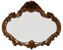 Continental Louis XV Style Wood Mirror