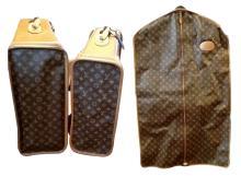 Set of Louis Vuitton Logo Luggage