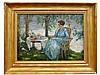 Edward Cucuel, Woman in a Blue Dress