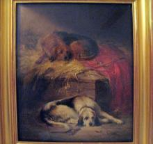 J. H. Sharp (British, flourished 1880-1910), Stable Friends at Rest, oil on canvas, signed