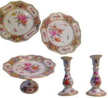 Group of German Dresden Style Porcelain