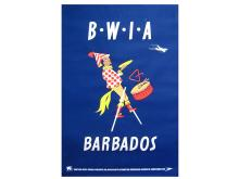 British Airways Travel Poster, Barbados, Mid-20th Century