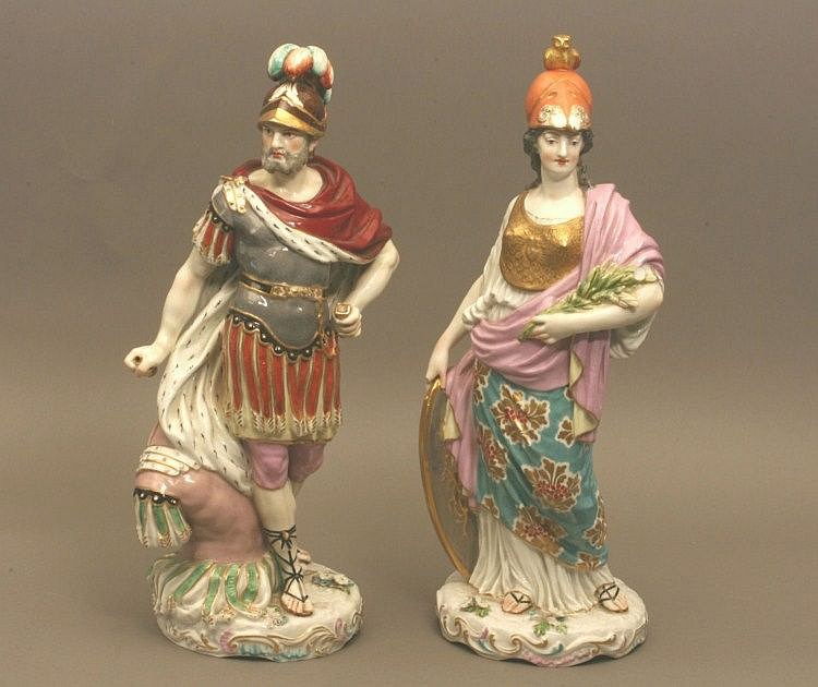 A Pair of Samson of Paris Poly chrome Porcelain