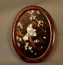 A Pair of Japanese Laquered Panels. Circa 1880.