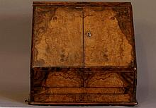 A Fine Victorian Walnut Stationery Cabinet. Last