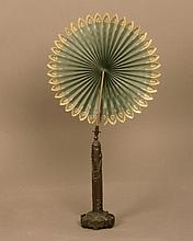 A Rare Victorian Bronze Candle Shade. Of Gothic