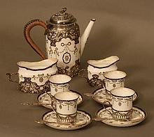 A Royal Worcester Silver Mounted Cabaret Set.