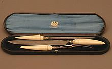 A Good Victorian Carving set. Late 19th century.
