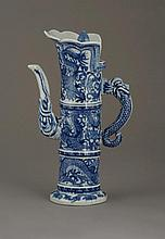 A Chinese Blue and White Whine Pot with Cover.