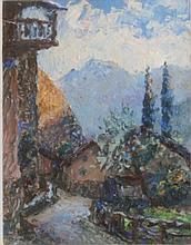 Piero San Salvadore, (1892 - 1955). Oil on artists