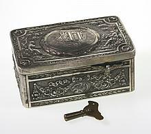 A Fine Continental Silver Bird Box. 19th century