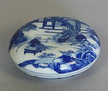 A Chinese Blue and Bowl with cover. 19th century