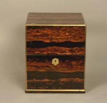 A good Calamander Wood Decanter Box. Mid 19th century