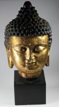 A Cold Painted Bronze Buddha.