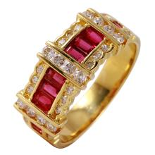 18KT Yellow Gold 1.06ctw Ruby and Diamond Ring