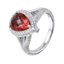 Two Luxurious Looks in One: New 4.65ctw Tourmaline and Diamond 18KT White Gold Ring/Pendant