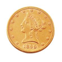 1899  $10 Liberty Head Eagle Gold Coin Guaranteed Genuine