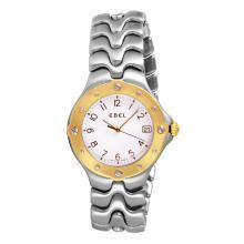 Gent's Elegant Authentic Designer Ebel Sportwave Stainless Steel Two Tone Watch