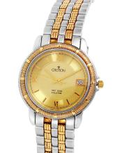 Gent's Sleek Authentic Designer Croton Two Tone Stainless Steel Watch