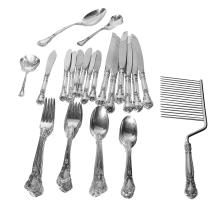 Classy Heirloom Quality Gorham Chantilly 53-Piece Sterling Silver Flatware Set - #722