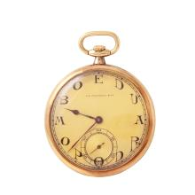 Gent's Collector's Item J.E. Caldwell 14KT Gold with Ed Koehn Movement Pocket Watch - #834