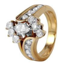 Enviable 1.80ctw Marquise Diamond 14KT Yellow Gold Wedding Ring - #529