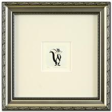 Pepe Le Pew's Girlfriend Limited Edition Hand-Tinted Etching (Dated 1999) from Warner Bros., Numbered with Certificate of Authenticity! This Piece Comes Framed! - #2644