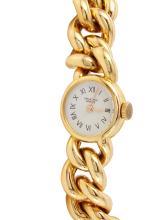 Ladies Authentic Designer Universal Geneve 18KT Yellow Gold Mechanical Bright Polish Watch - #815