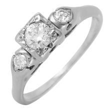 Gorgeous Three-Stone Diamond Platinum Engagement Ring - #287