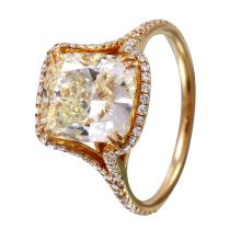 NEW Breathtaking Vintage Style Inspired 4.39ctw Fancy Yellow and White Diamond 14KT Yellow Gold Engagement Ring - #1588