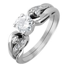 Exquisite Sparkling Brilliant Diamond 14KT White Gold Engagement Ring - #1543