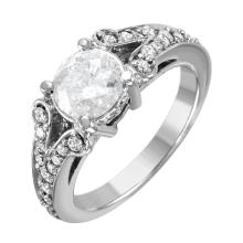New Picasso 1.58ctw Diamond 14KT White Gold Scroll Engagement Ring - #1500