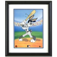 Bugs Bunny at Bat for the Yankees Limited Edition Sericel by Looney Tunes with the MLB Logo and Yankees Logo! Includes Certificate of Authenticity! This Piece Comes Framed! - #2645