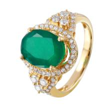 Enchanting Victorian Style 3.83ctw Emerald and Diamond 14KT Yellow Gold Ring - #517A