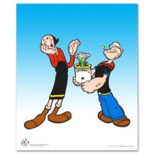 Popeye Spinach Limited Edition Popeye Sericel with Official King Features Syndicate Seal! Includes Certificate of Authenticity! - #2594
