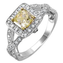 NEW Alluring 1.53ctw Diamond 14KT Two Tone Gold Engagement Ring - #1575