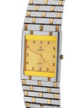 Gent's Sleek Authentic Designer Concord 18KT Gold & Steel Dress Watch - #1386